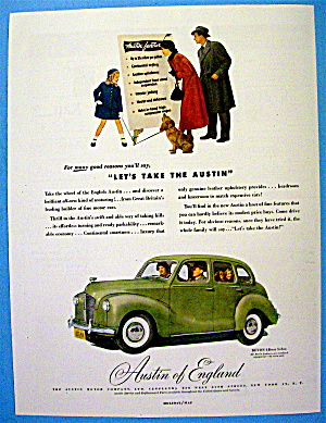 1949 Austin Of England With Four Door Sedan Devon