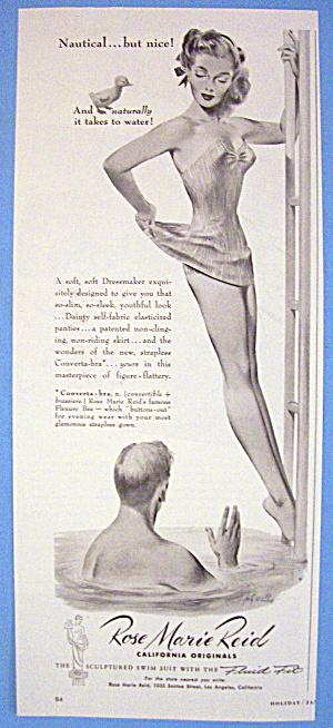 1950 Rose Marie Reid Converta Bra with Woman On Ladder (Image1)