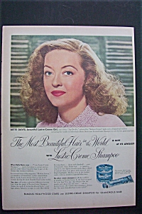 1951 Lustre Creme Shampoo With Bette Davis