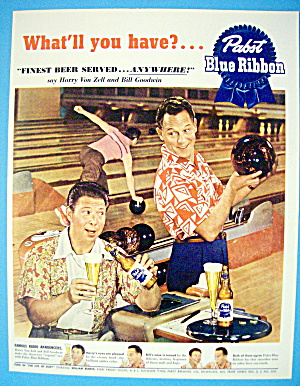 1951 Pabst Blue Ribbon Beer w/Bill Goodwin & Harry Zell (Image1)