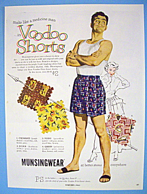 1951 Voodoo Boxer Shorts with Man Smiling In Shorts (Image1)