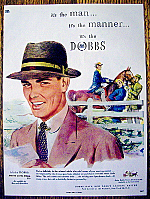 1951 Dobbs Hat with Man Wearing A Monte Carlo Milan Hat (Image1)