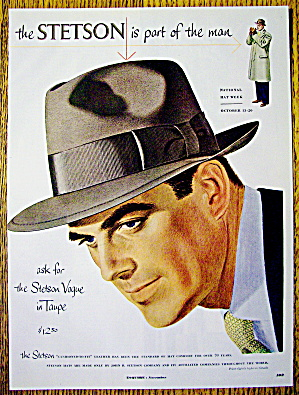 1951 Stetson Hats with Man Wearing Vogue Hat in Taupe (Image1)