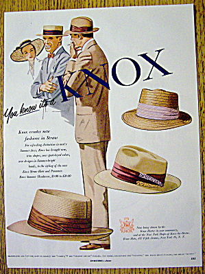 1951 Knox Hats with Straw & Panama Hats (Image1)