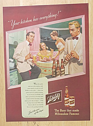1947 Schlitz Beer with Two Couples Enjoying Beer  (Image1)