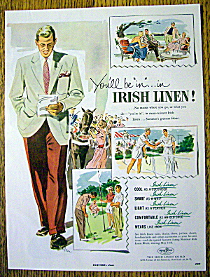 1951 Irish Linen with Man Walking in Suit (Image1)