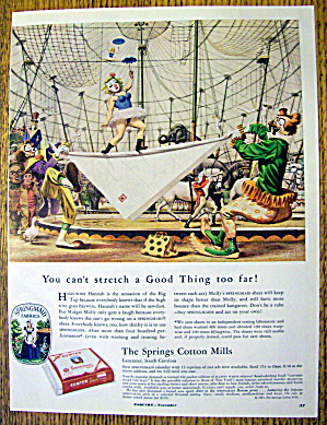 1951 Springmaid With Clowns At The Cirus
