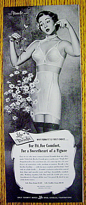 1951 Formfit with Woman Wearing Life Bra & Girdle (Image1)