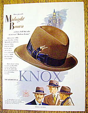 1951 Knox Hats With The Madison Avenue Hat
