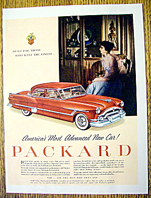 1953 Packard With A Red Clipper & Lovely Woman