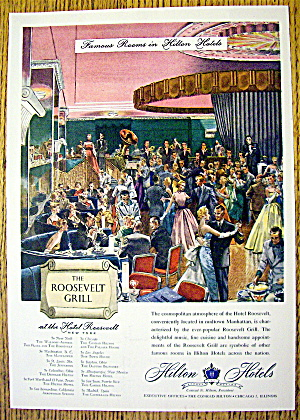 1953 Hilton Hotels with the Roosevelt Grill (Image1)