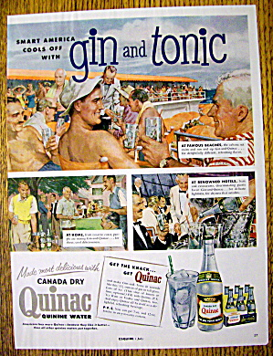 1954 Canada Dry Quinac With Gin And Tonic