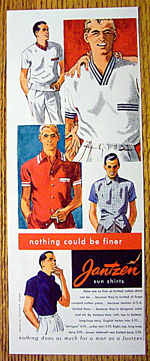 1954 Jantzen Sun Shirts with Different Men in Sun Shirt (Image1)