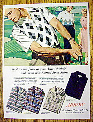 1954 Arrow Knitted Sport Shirts with Man Golfing (Image1)