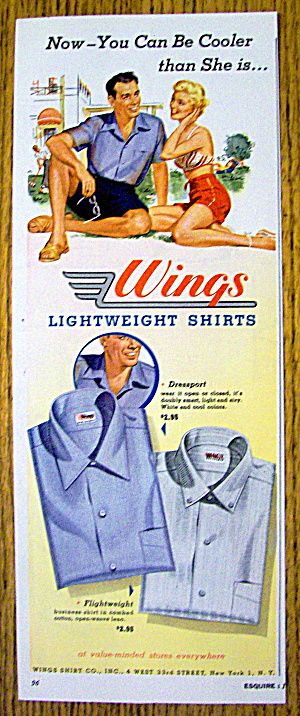 1954 Wings Light Weight Shirts with Man & Woman (Image1)