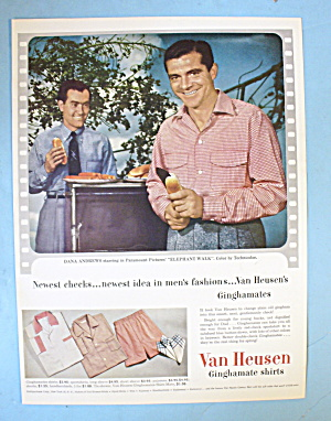 1954 Van Heusen Shirt With Dana Andrews