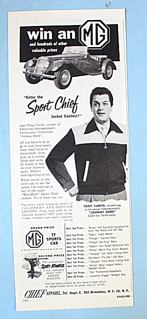 1954 Sport Chief Jacket/apparel With Tony Curtis