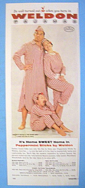 1954 Weldon Pajamas With John Raitt & Family (Image1)