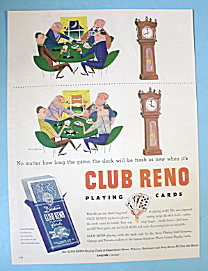1954 Club Reno Playing Cards With Men Playing Cards (Image1)