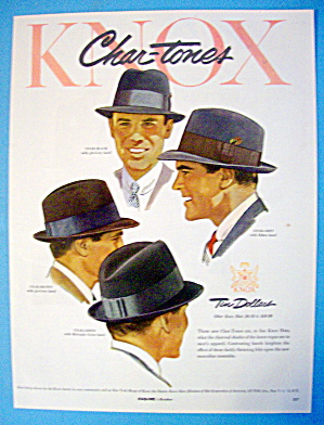 1954 Knox Hats With Chartone Hats