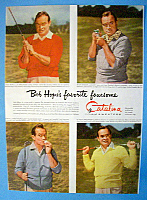 1954 Catalina Sweaters With Bob Hope (Image1)