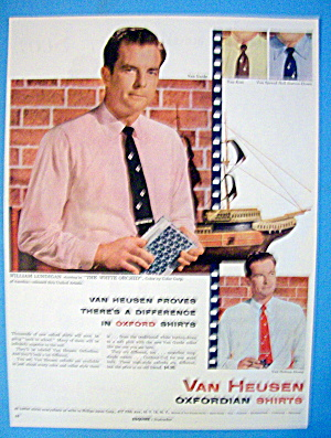 1954 Van Heusen Oxford Shirts With William Lundigan (Image1)