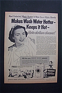 Vintage Ad: 1952 Bendix Washer/snow White & The Dwarfs