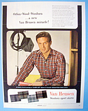 1954 Van Heusen Shirts With Robert Stack (Image1)