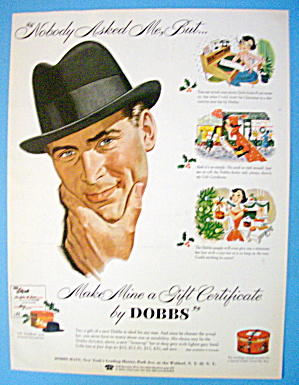 1955 Dobbs Hats With Man Wearing Hat (Image1)