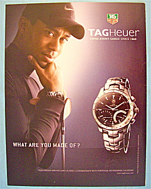 2008 Tag Heuer Watch With Golf's Tiger Woods