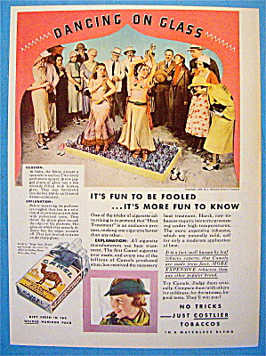 1933 Camel Cigarettes with Women Dancing on Glass (Image1)