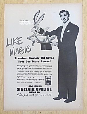 1947 Sinclair Opaline With Zachary Scott & Bugs Bunny