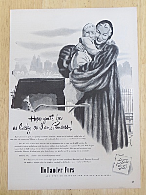 1947 Hollander Furs with Woman Hugging A Baby (Image1)