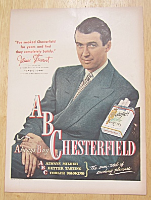 1947 Chesterfield Cigarettes with James Stewart (Image1)