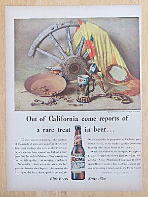 1947 Acme Beer With Quest For Fortune