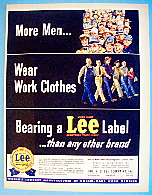 1949 Lee Work Clothes with Working Men (Image1)