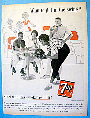 1963 7 Up (Seven Up) With People Bowling