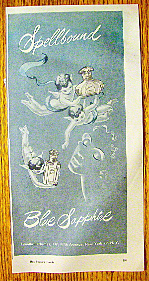 1945 Blue Sapphire Perfume with Cherubs Flying (Image1)