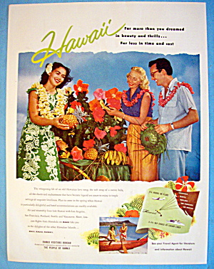 1955 Hawaii with Couple and Hawaiian Girl (Image1)