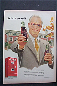 1952 Coca Cola (Coke) with Man Holding Out A Bottle (Image1)