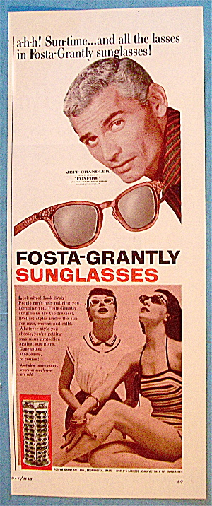 1955 Fosta-grantly Sunglasses With Jeff Chandler
