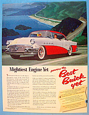 1955 Buick With Red & White Buick
