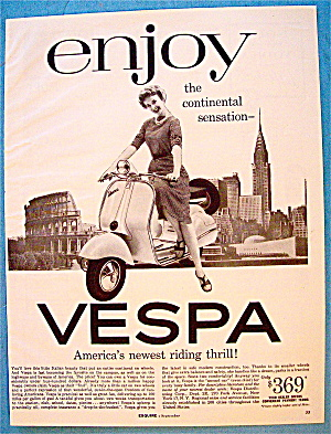 1956 Vespa with Woman on the Bike (Image1)
