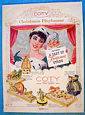 1956 Coty Perfume with Woman and Puppet (Image1)