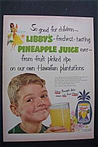 1952 Libby's Pineapple Juice