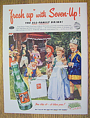 1953 Seven Up (7up) With Children In Costumes
