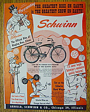 1953 Schwinn Bike With Ringling Brother's Circus