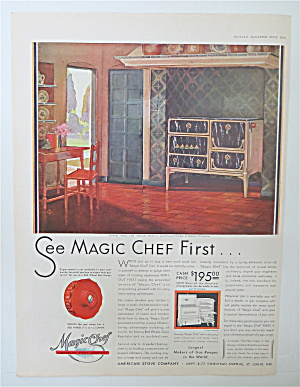 1930 Magic Chef Stove with Patrician Model   (Image1)