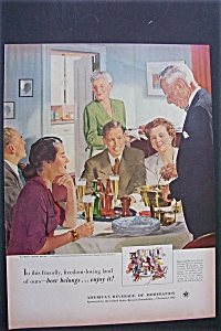 Vintage Ad: 1952 Beer Ad By Douglas Crockwell