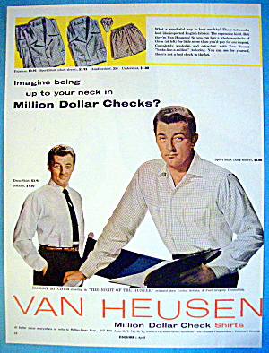 1955 Van Heusen Shirts With Robert Mitchum